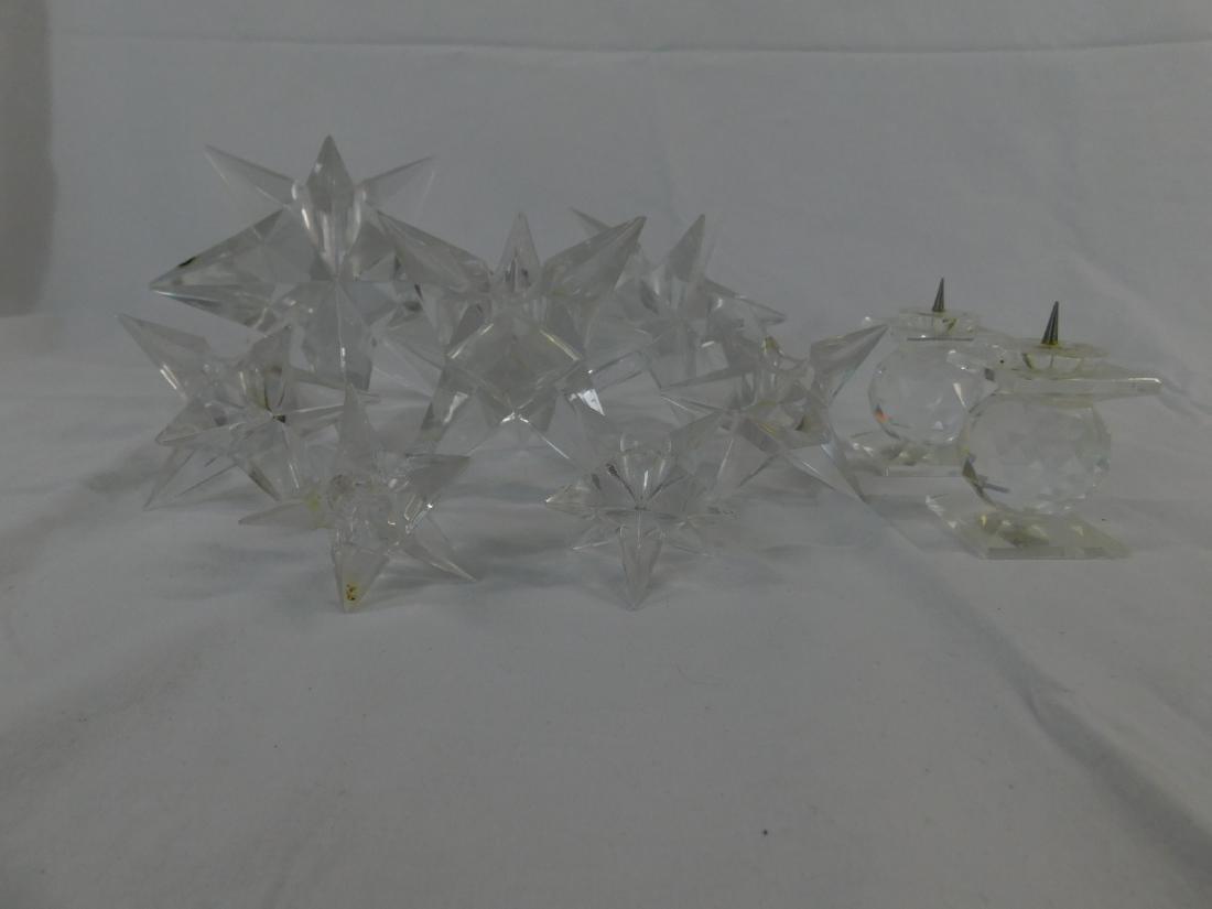 Seven Rosenthal Cyrstal Star Candle Holders - 2