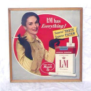 1005: 1950's L & M Cigarettes Display Sign