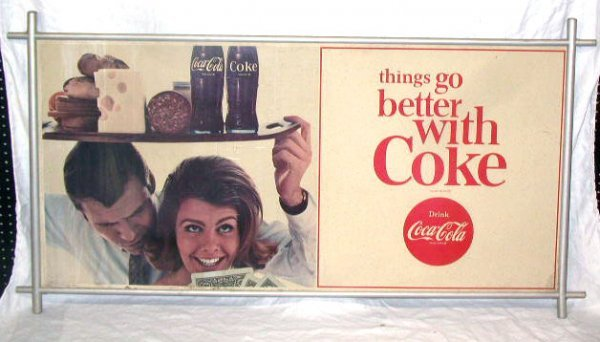 1008: 1960's Coca-Cola Display Sign