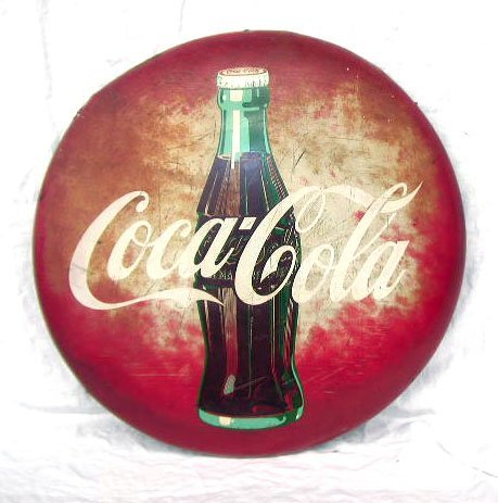 1009: 1950's Coca-Cola Display Sign