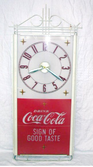 1011: 1960's Coca-Cola Hanging Display Clock