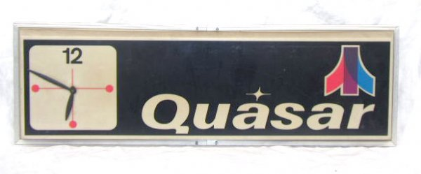 1017: 1970's Quasar Lite Up Display Clock