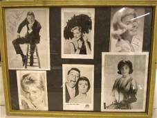 1043: 1960's Signed Celebrity Photos Display