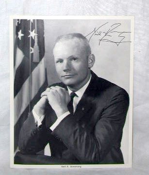 1160: Neil Armstrong Signed Photograph