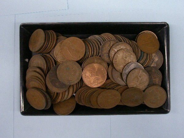2011: English 1 Penny large copper coins