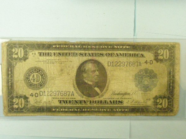 2024: Two US Federal Reserve 1914 $20 Notes