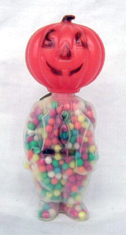 3010: Vintage plastic Halloween candy containers