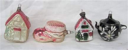 3051 Vintage glass Christmas ornaments