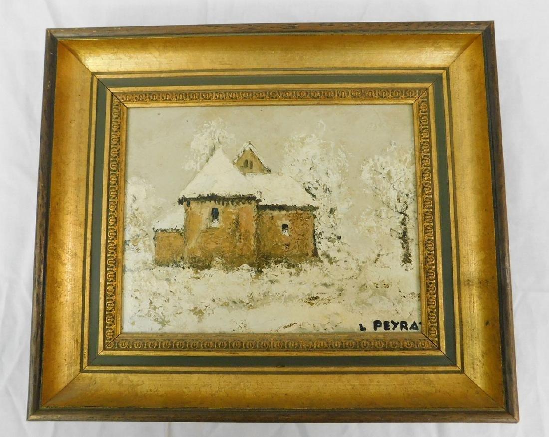 Louis Peyrat o/c House in Snow