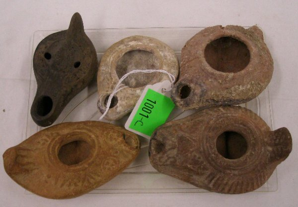 1001C: Holy Land ancient oil lamps