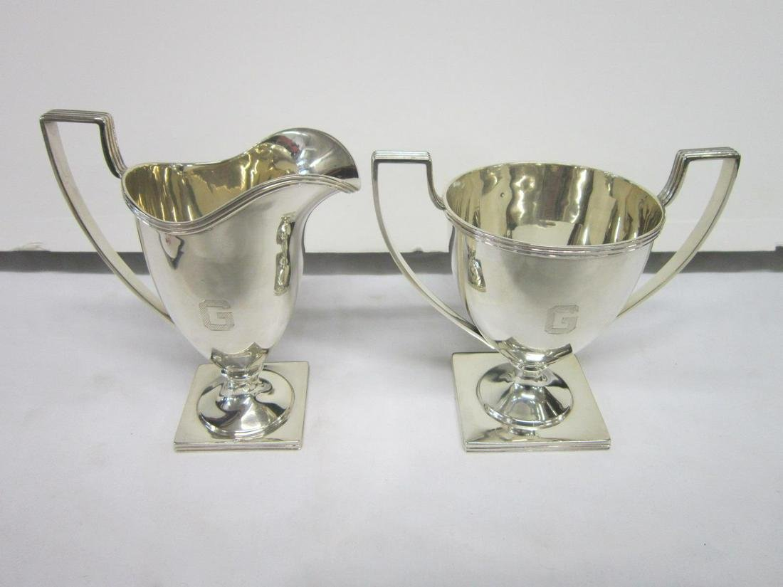 Sterling Sugar & Creamer Set