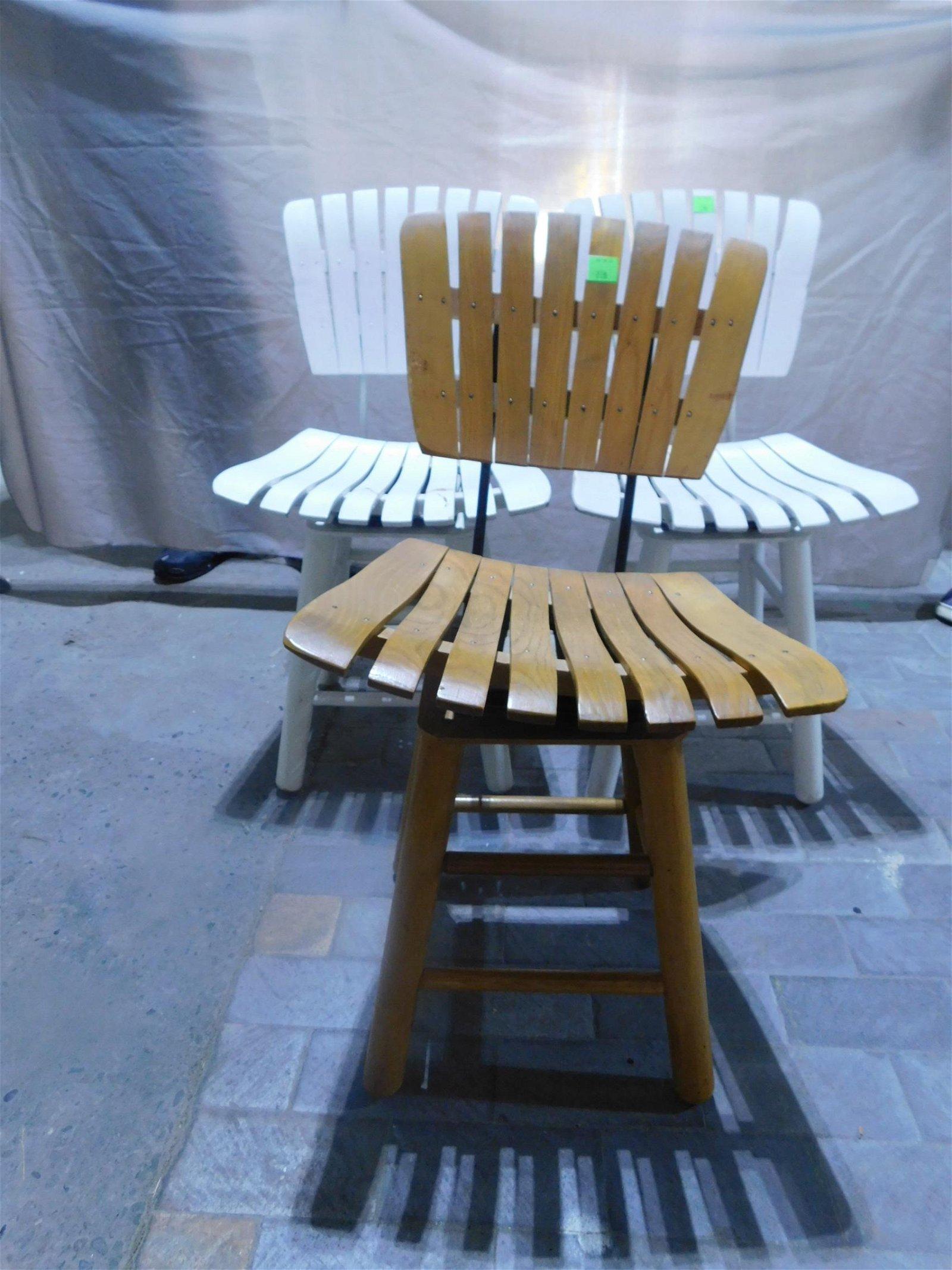 3 Arthur Umanoff Style Swivel Chairs