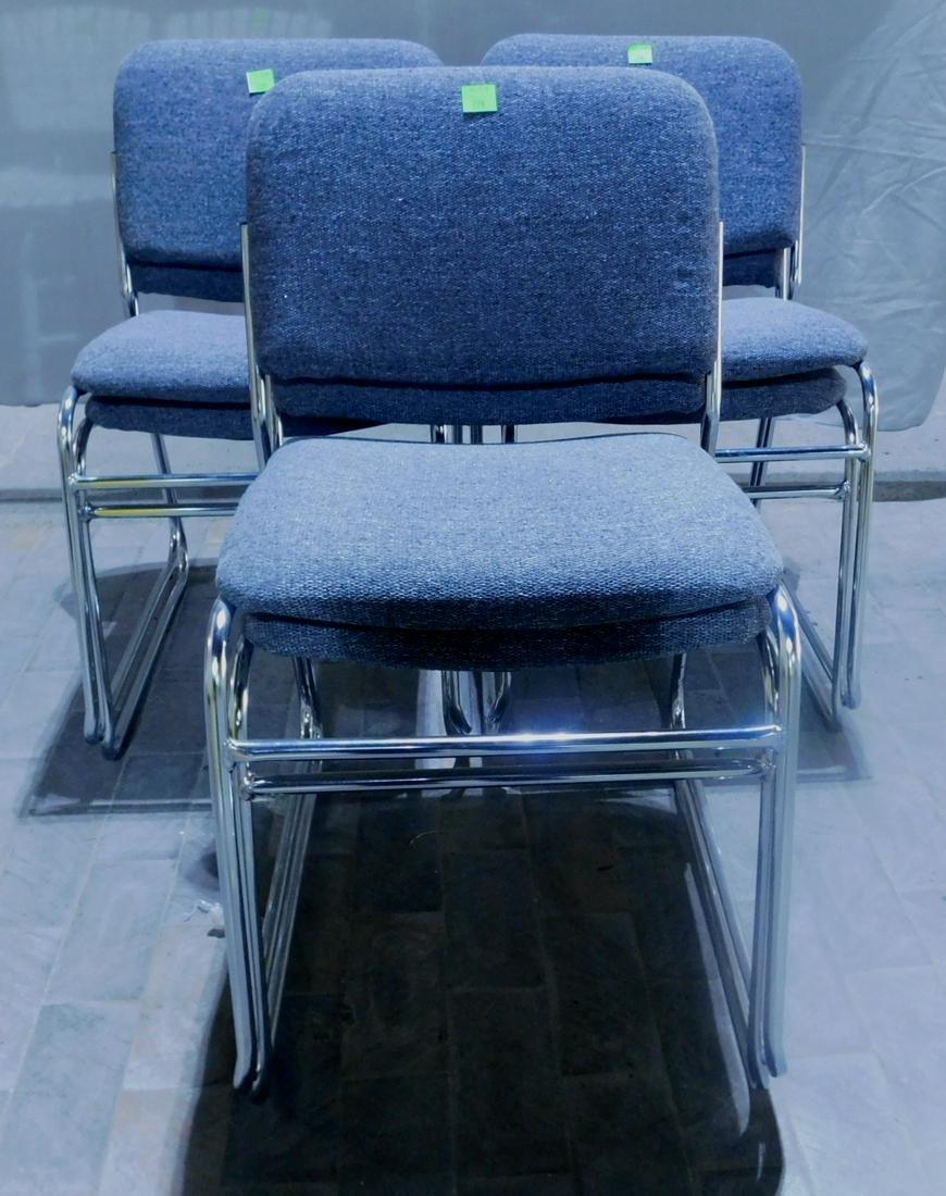 Set of 6 Modern Era Stack Chairs