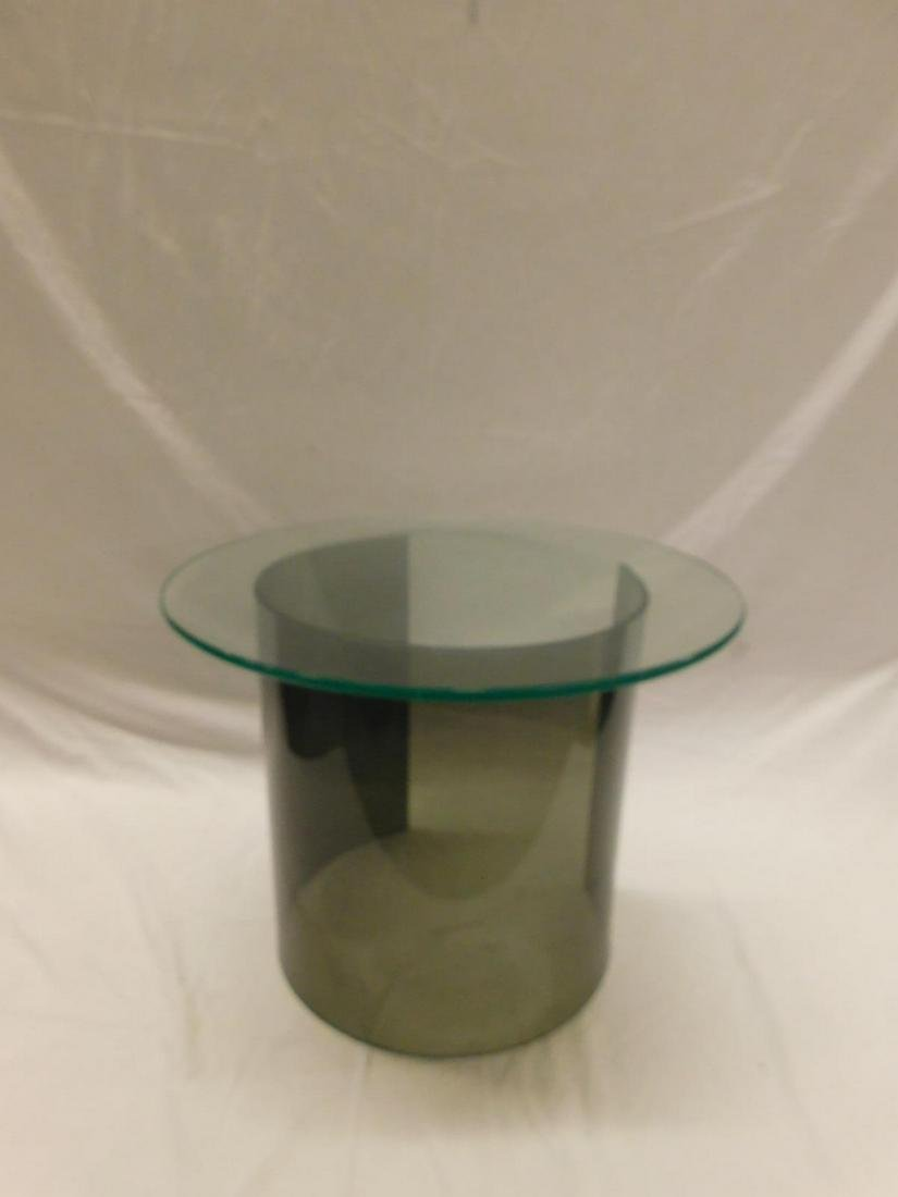 MCM C-Form Lucite & Glass Ocassional Table