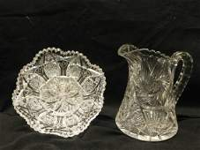 2 American Brilliant Cut Glass Pieces