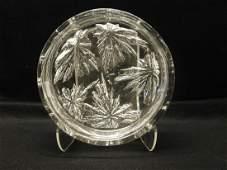 Large Modern Daum France Glass Bowl