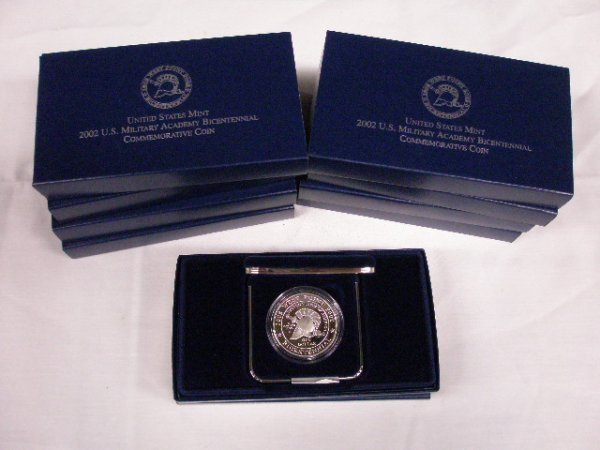 2005: 2002 U.S. Mint commemorative silver dollars
