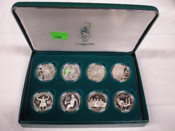 2006: 1996 U.S. Mint Olympic Coins silver dollar set