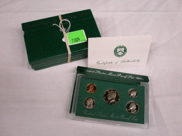 2009: 1994-1998 U.S. Mint Proof sets