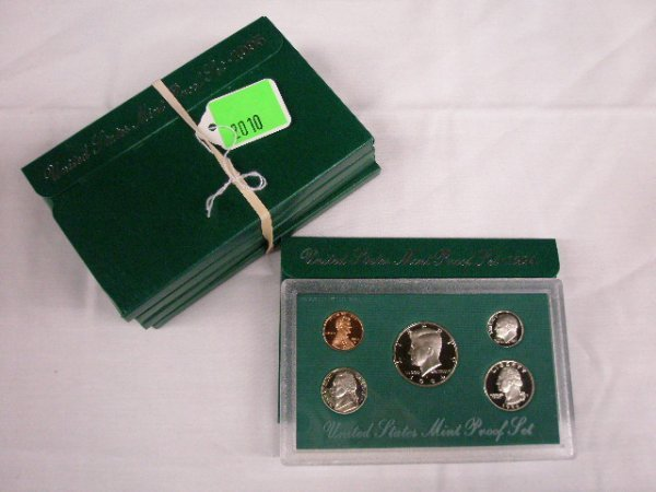 2010: 1994-1998 U.S. Mint Proof sets