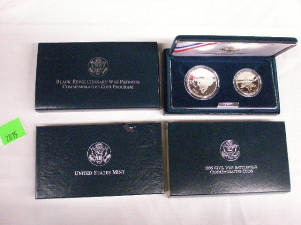 2015: 3 U.S. Mint Commemorative silver dollars