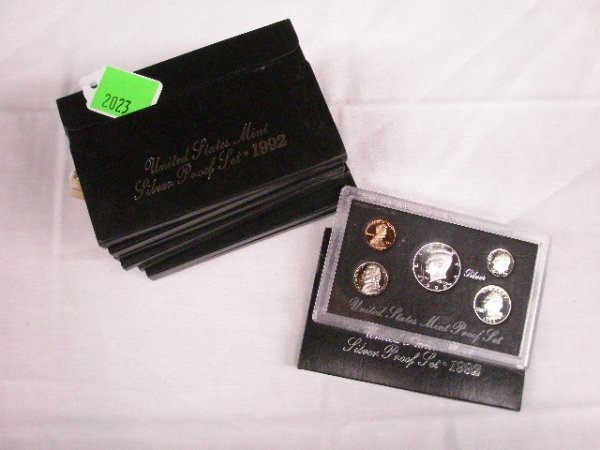 2023: 8 U.S. Mint premier silver proof sets