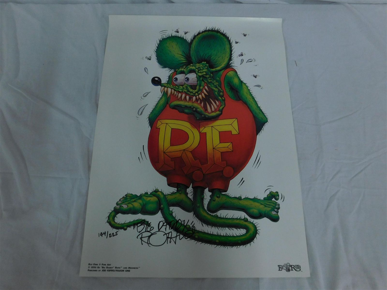 Ed Roth Rat Fink Signed Print