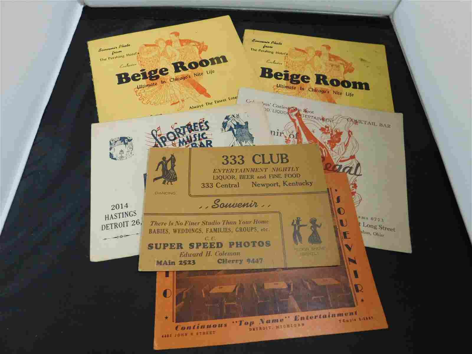 6 1950's Souvenir Photo Folders - Featuring Africa