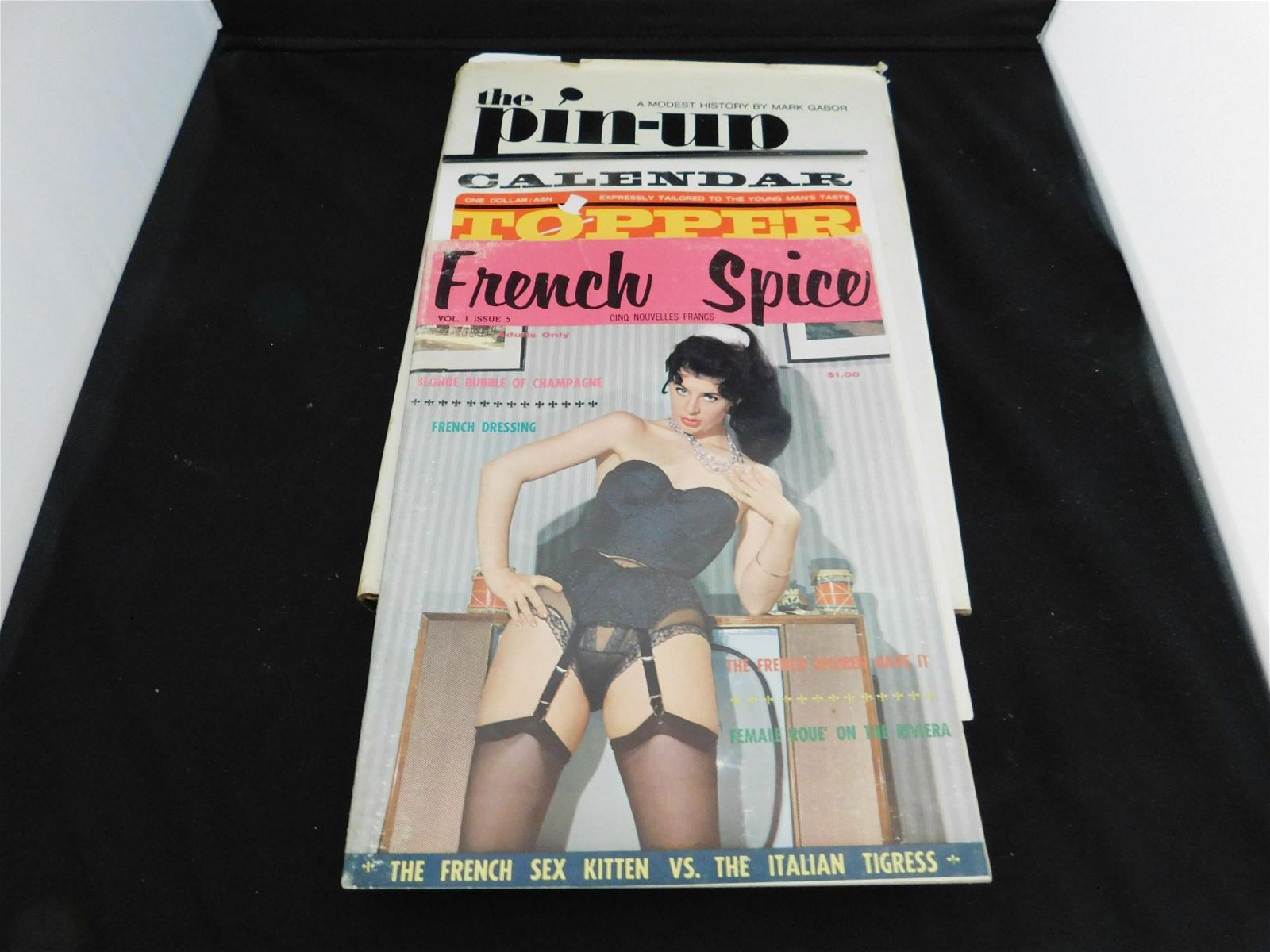 Pin Up Book Topper Calendar French Spice Magazine