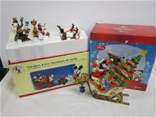 2 Disney Christmas Figures