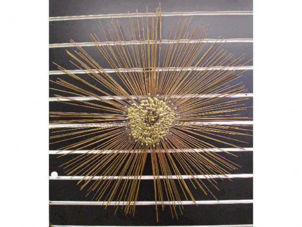 1004: Modern Sunburst Metal wall sculpture