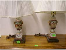 1123 Pr Capo Di Monte urn form table lamps