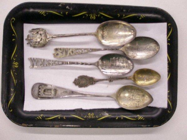 2008: Sterling & English silver souvenir spoons