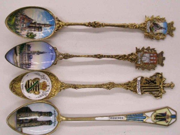 2013: Silver & painted on enamel souvenir spoons