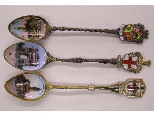2014: Silver & painted on enamel souvenir spoons