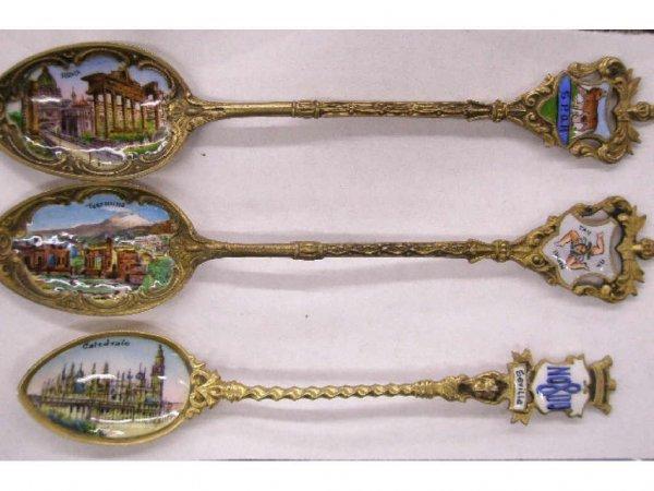 2019: Silver & painted on enamel souvenir spoons