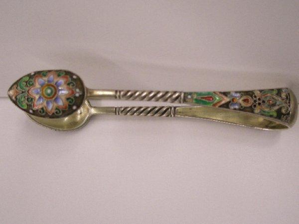 2021: Russian silver & enamel tongs