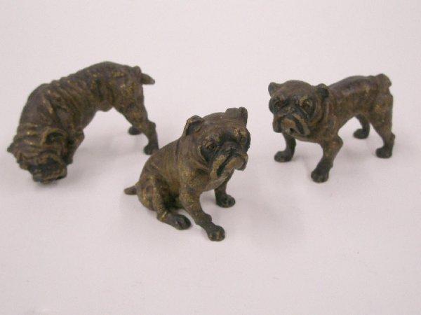 2064: Austrian bronze bulldog figures