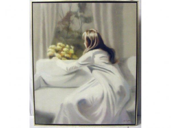 4004: Hal Singer signed oil on canvas