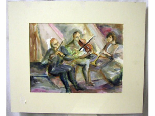 4010: Ethel Lunenfeld unsigned watercolor