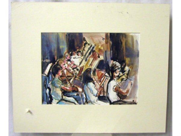 4012: Ethel Lunenfeld signed watercolor