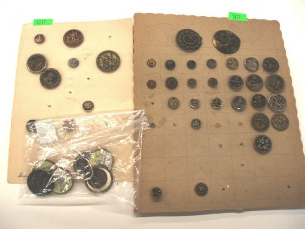 1017: Late 19th to early 20th C. buttons