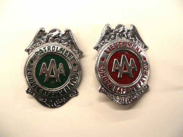 1020: Vintage School Safety Patrol badges