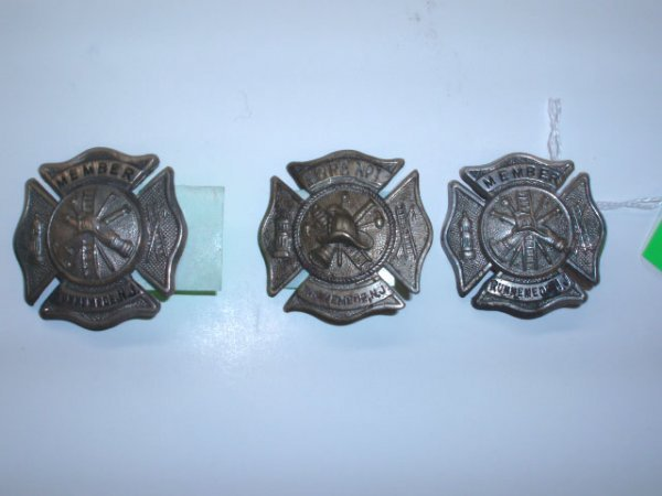 1021: Vintage New Jersey fire department badges