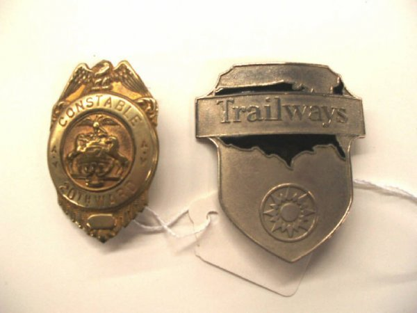 1022: Vintage Trailways & constable badges