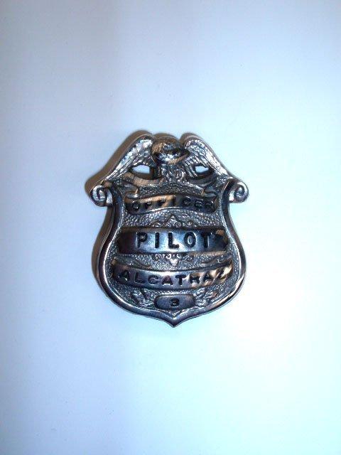 1045: Vintage Alcatraz prison Officer Pilot badge