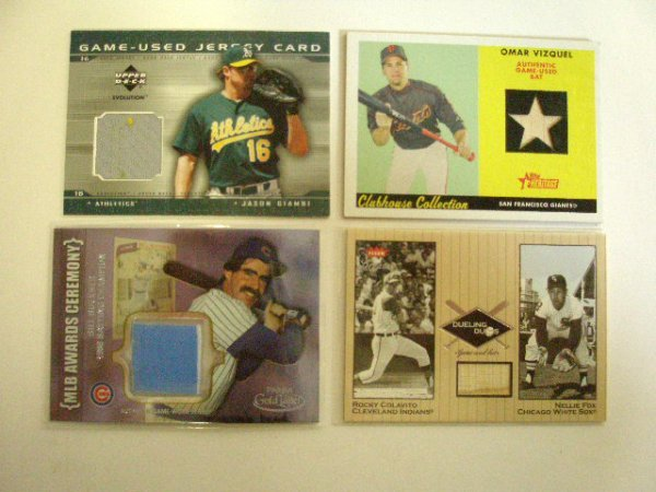 2007: Game Used Jersey & Bat cards