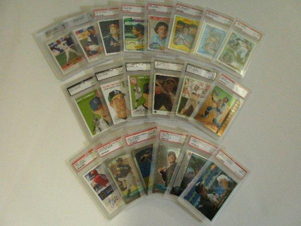 2011: 20 Assorted graded baseball cards