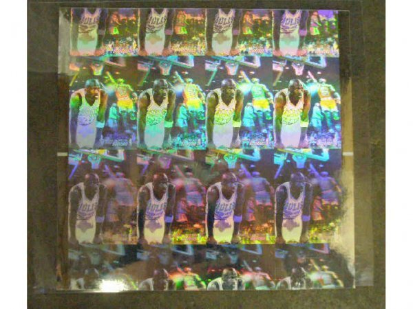 2013: Upper Deck Michael Jordan uncut hologram sheet