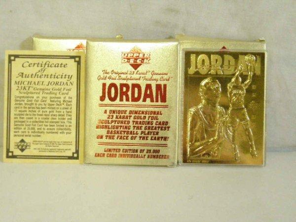 2016: 1995 Upper Deck Michael Jordan gold foil t. cards